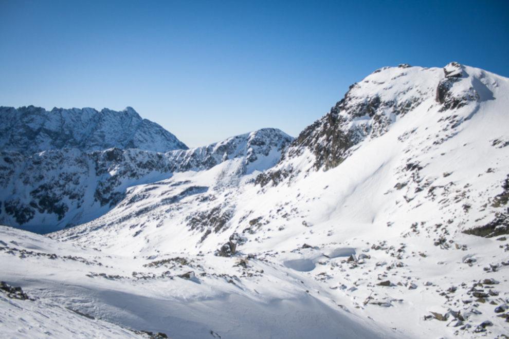 tatry wysokie zima dolina 5 stawow 153 of 221 - Szpiglasowy Wierch i Kozia przełęcz w zimie