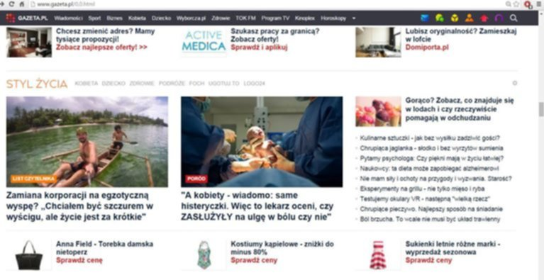 gazeta glowna - Media o mnie