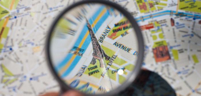 Paris tourist map