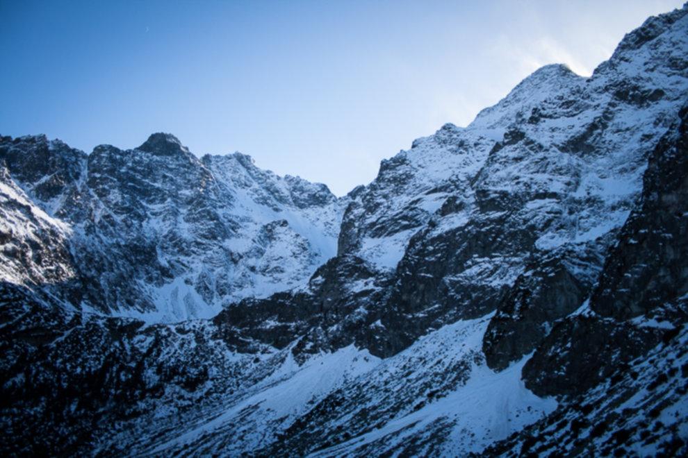 tatry wysokie zima dolina 5 stawow 52 of 221 - Szpiglasowy Wierch i Kozia przełęcz w zimie