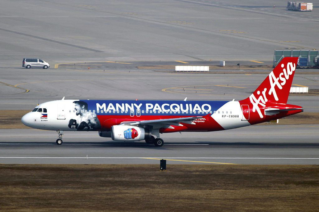 RP C8988   AirAsia Zest   Airbus A320 232   Manny Pacquiao Livery   ICN 15853579103 1024x683 - Manny Pacquiao – żywa legenda Filipin